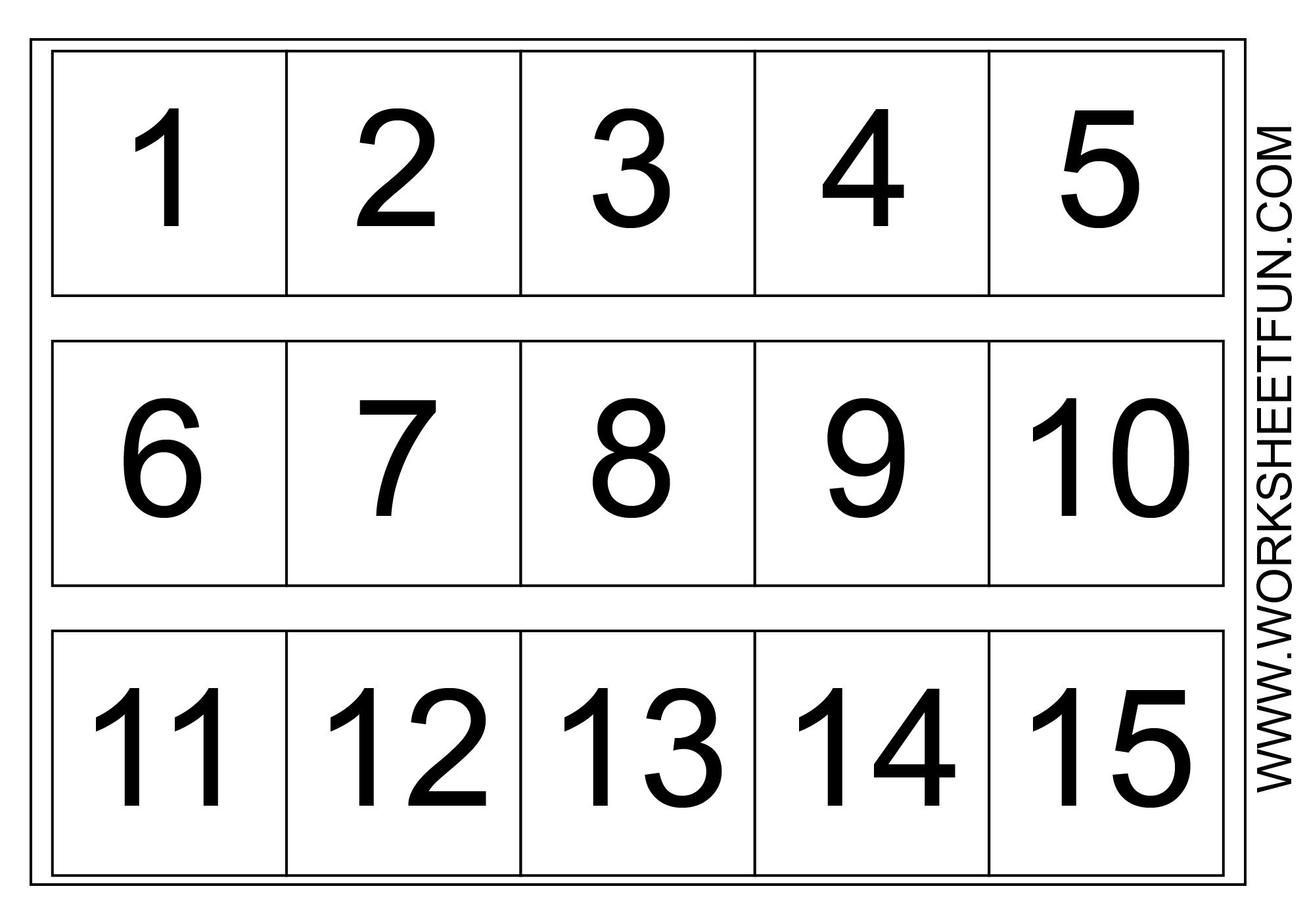 Number Chart 1-15 | Kindergarten Worksheets - Free Printable Number Chart 1 10