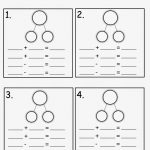 Number Family Worksheets For Kids | Math Worksheets For Kids   Free Printable Number Bond Template