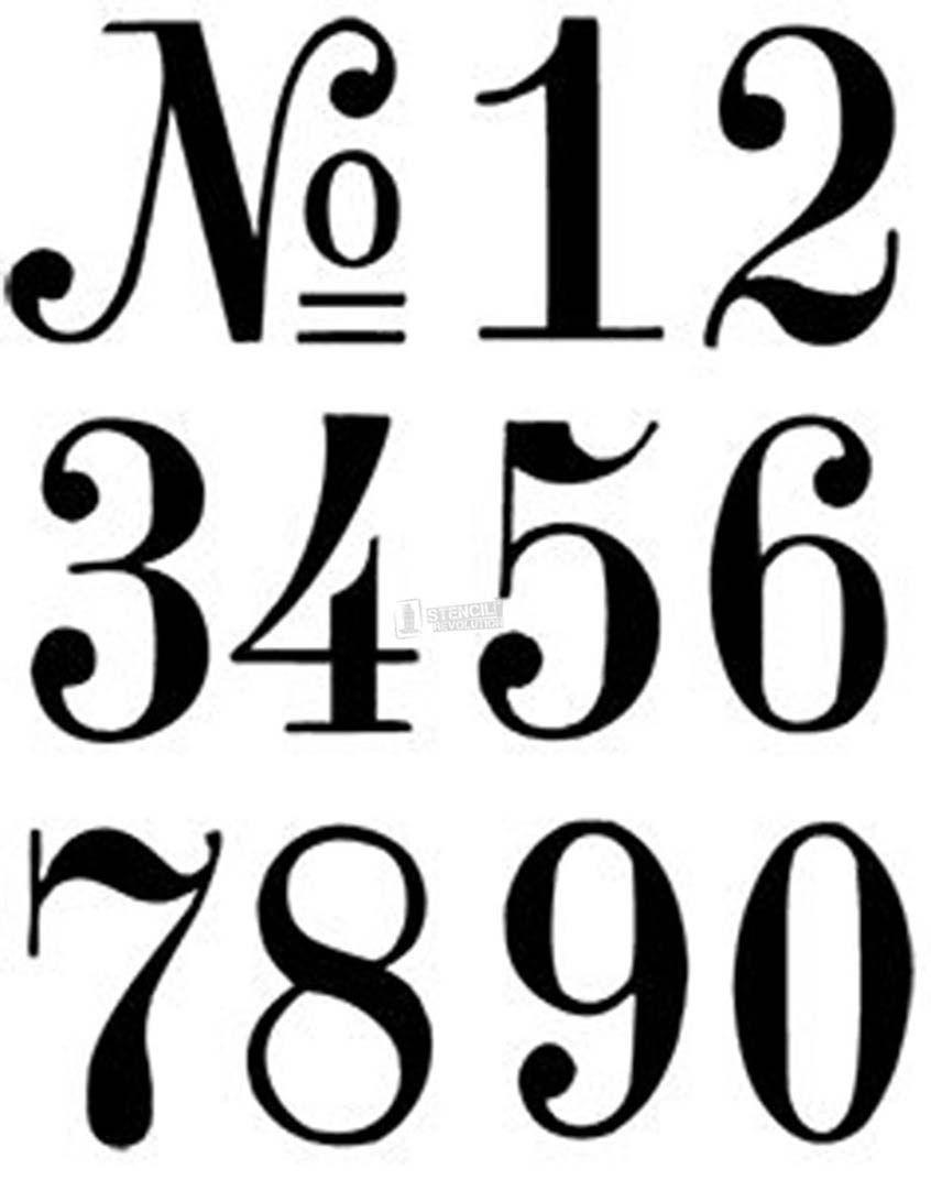 Number Stencils   Crafts   Pinterest   Number Stencils, Letter - Free Printable Fancy Number Stencils