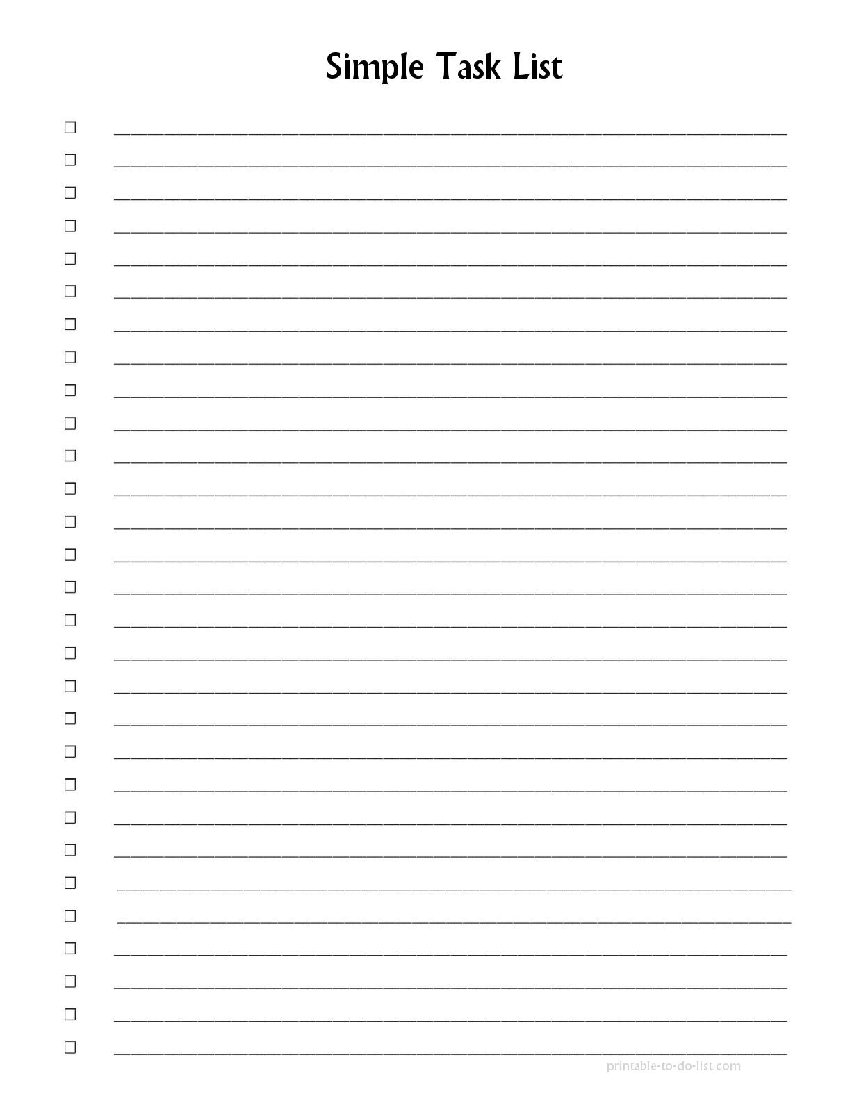 Numbered List Printable | List And Format Corner - Free Printable Numbered List