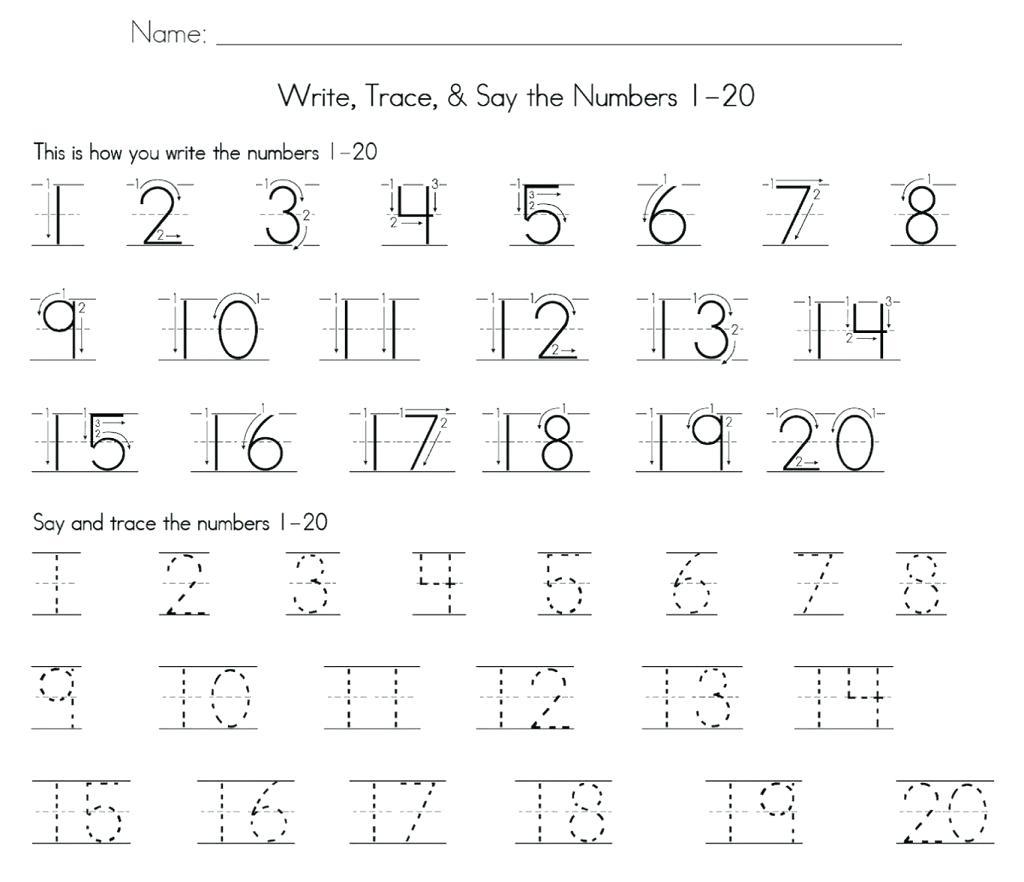 Numbers 1 50 Math Tracing Math Number Worksheets 1 2 For Preschool - Free Printable Number Worksheets