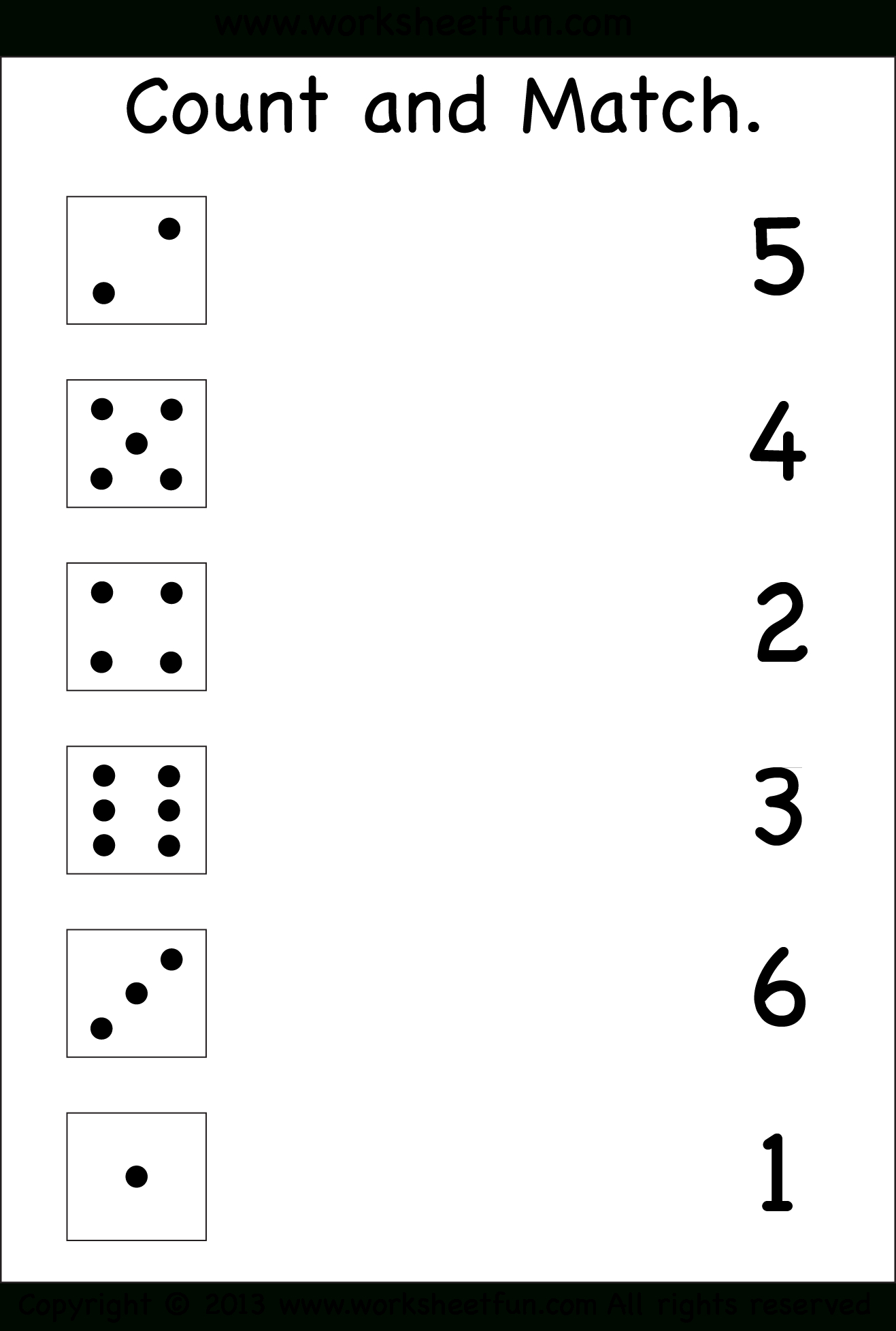 Numbers – Count And Match / Free Printable Worksheets – Worksheetfun - Free Printable Kid Activities Worksheets