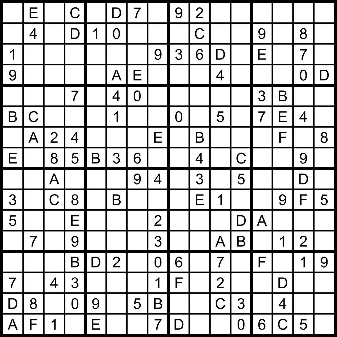 Numbers Super Challenger Sudoku Print | Www.topsimages - Free Printable Super Challenger Sudoku