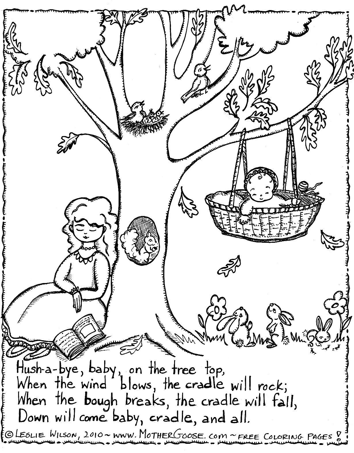 Nursery Rhyme Coloring Page | Teaching - Nursery Rhymes/mother Goose - Mother Goose Coloring Pages Free Printable