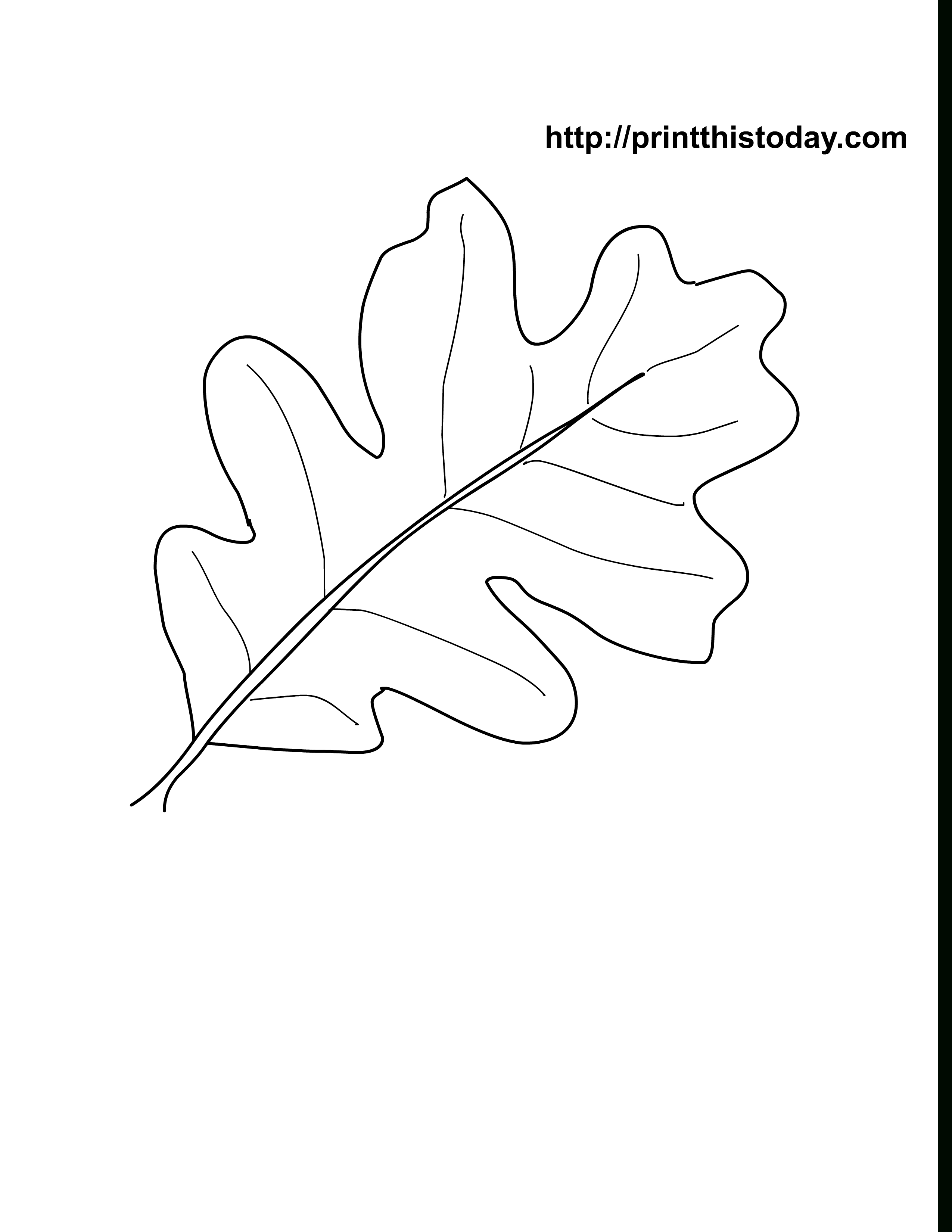 Oak Leaves Coloring Pages Printable | Craft Ideas | Pinterest - Free Printable Leaves