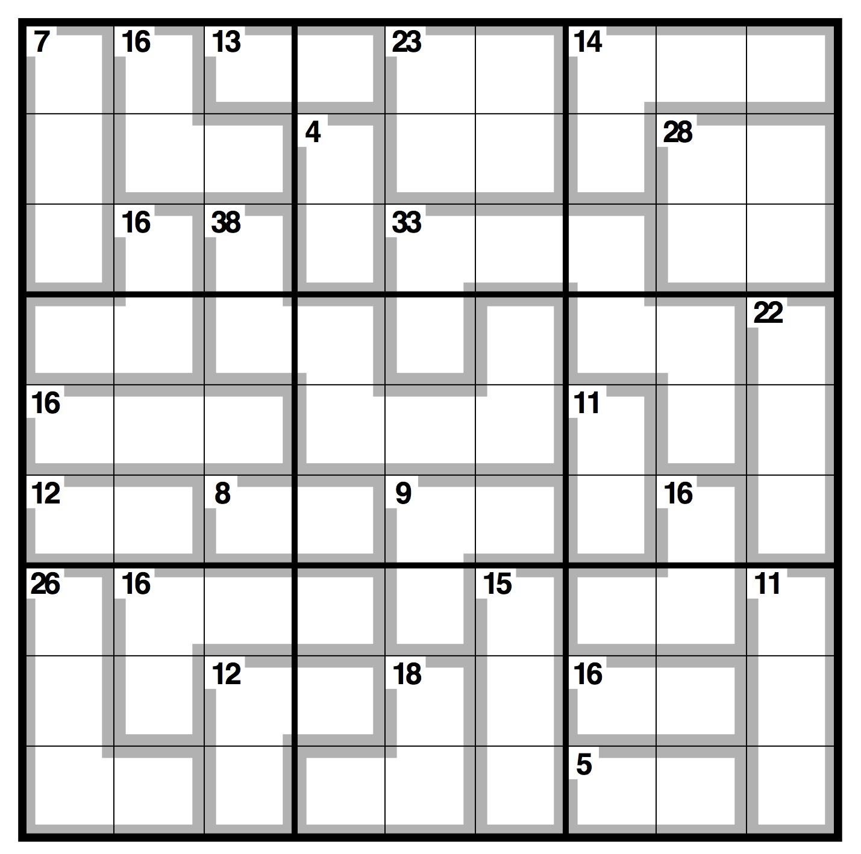 Observer Killer Sudoku | Life And Style | The Guardian - Killer Sudoku Free Printable