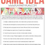 Oh Baby! Free Printable Baby Shower Game Expecting Moms Will Love   Free Printable Baby Shower Games