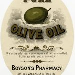 Old Design Shop ~ Free Digital Image: Vintage Boyson's Pharmacy   Free Printable Olive Oil Labels