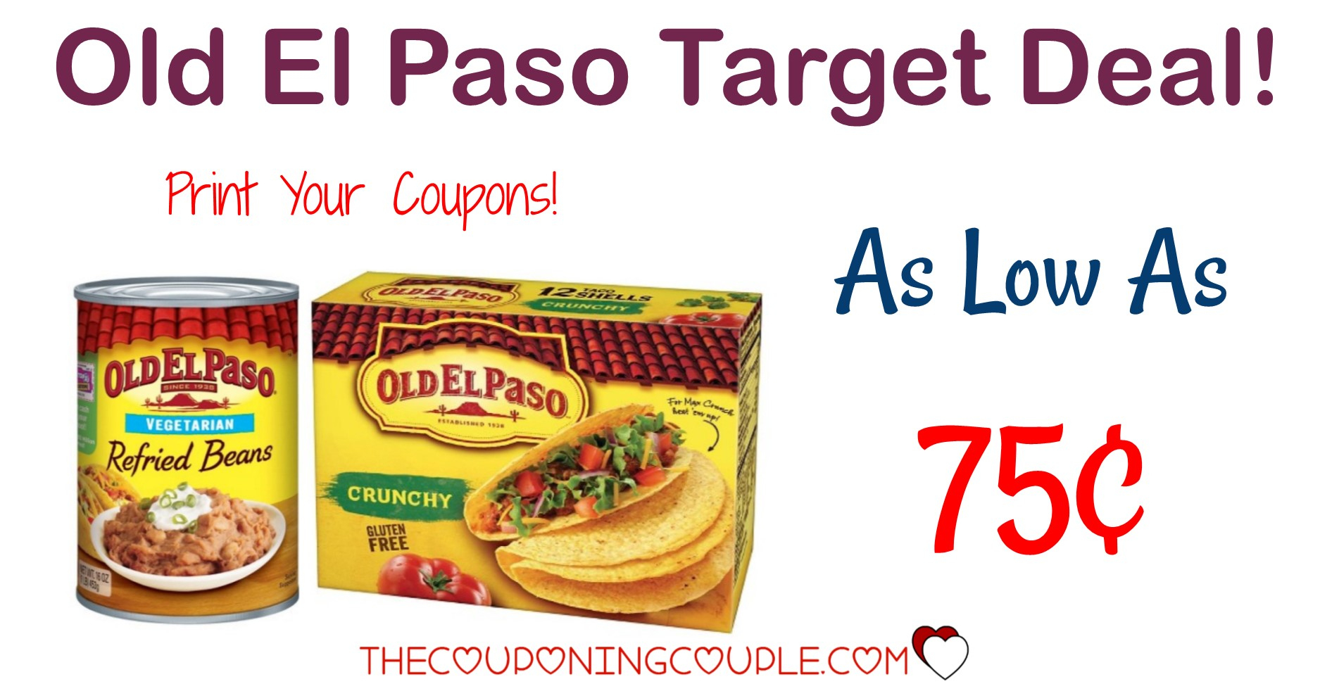 Old El Paso Coupon + *hot* Target Deal! $0.75 Taco Shells And $0.75 - Free Printable Old El Paso Coupons