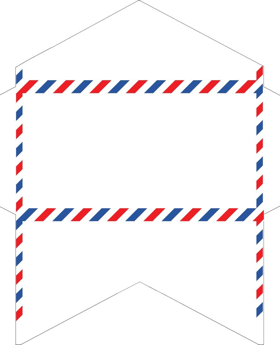 Old-Fashioned Correspondence: Airmail Envelopes Free Printable - Free Printable Envelope Templates