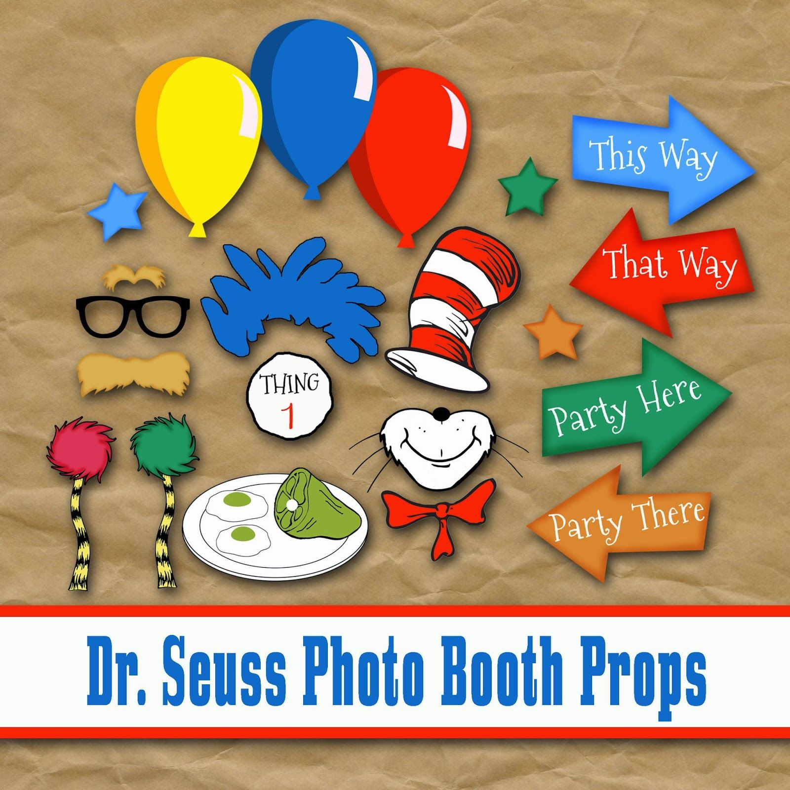 Old Market Corner: Dr. Seuss Photo Booth Printable Props - Free Printable Dr Seuss Photo Props