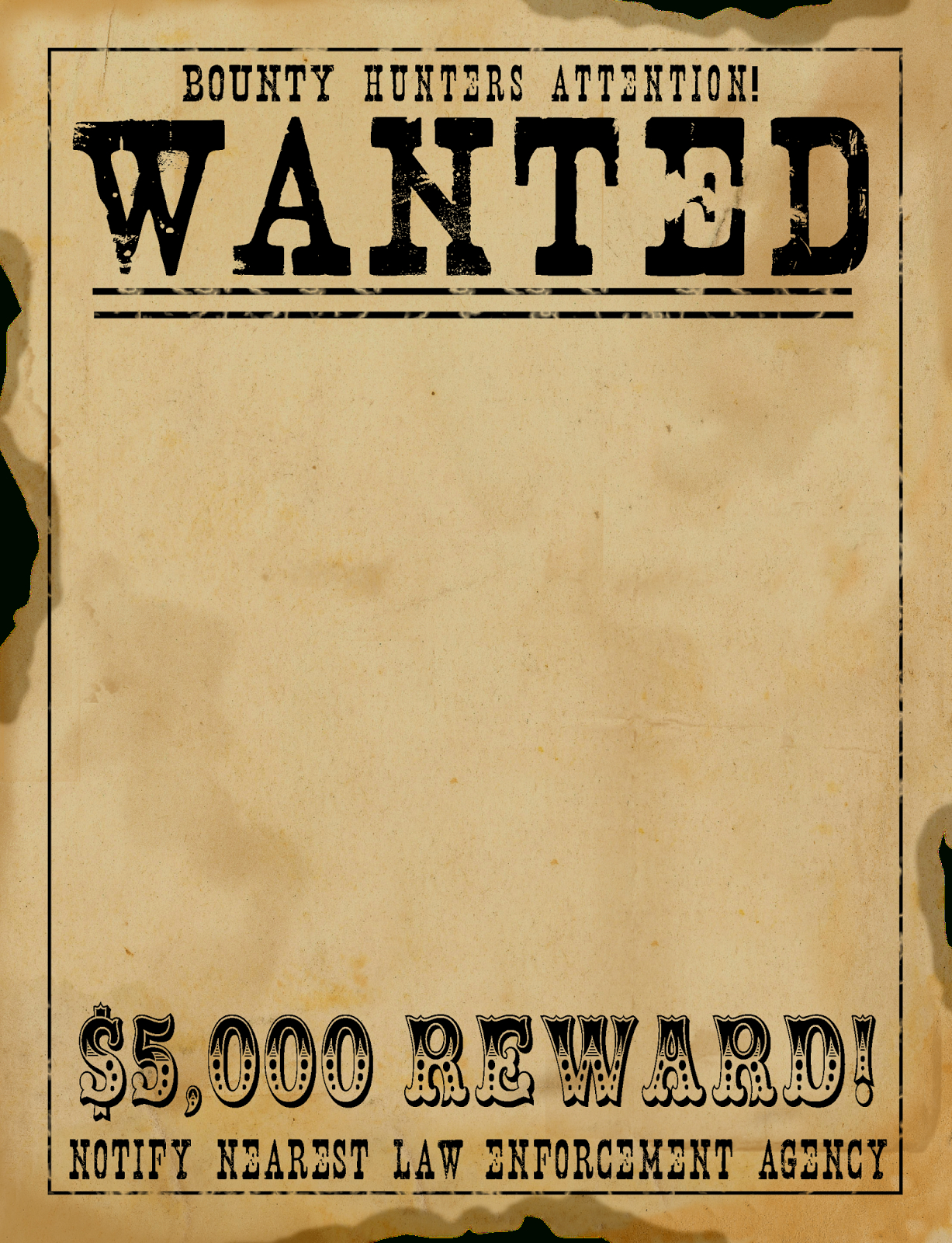 Old Western Wanted Poster On Royalty Free Vector Background Stock - Free Printable Wanted Poster Old West