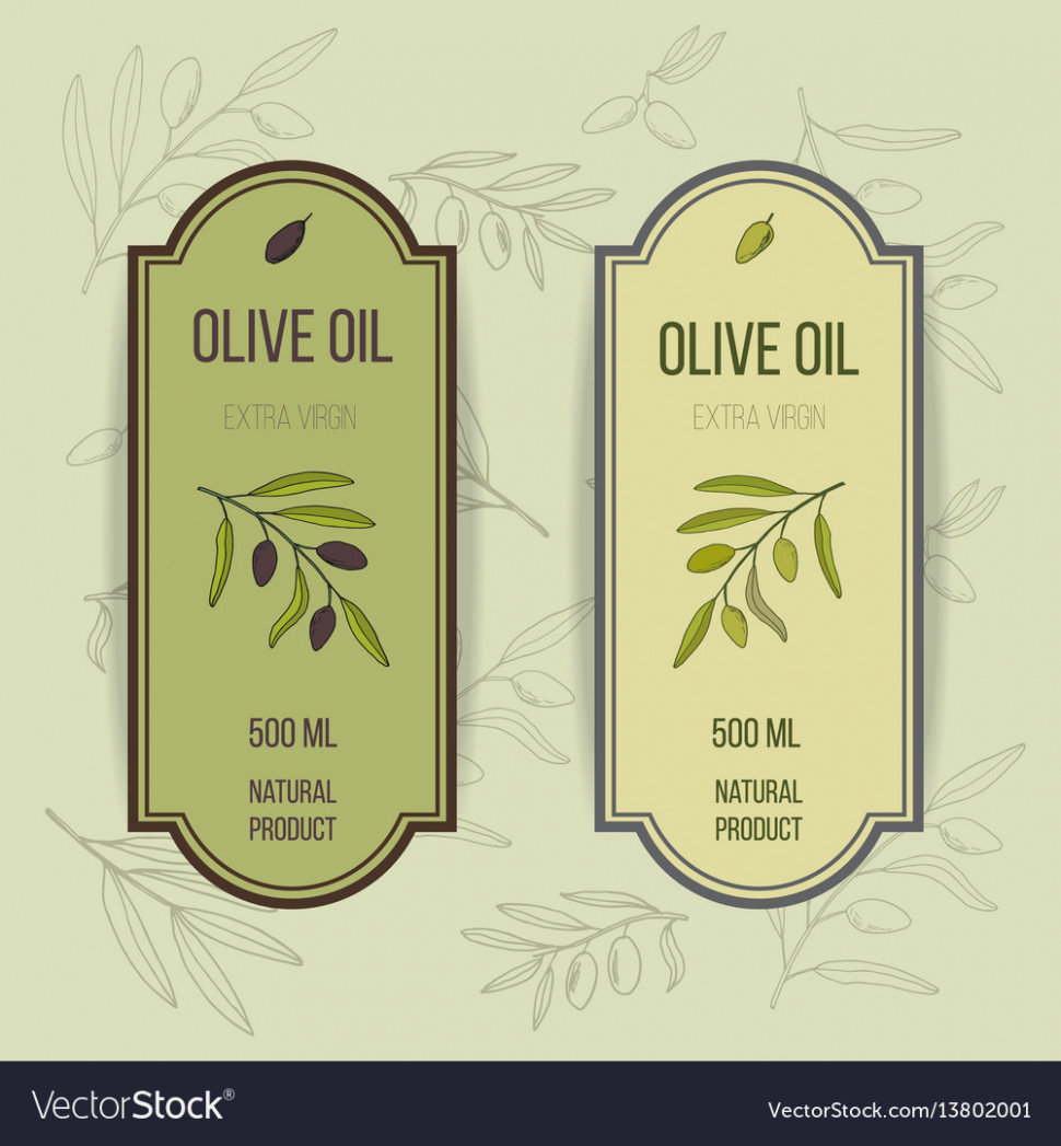 Olive Oil Label Template Royalty Free Vector Image – Printable - Free Printable Olive Oil Labels