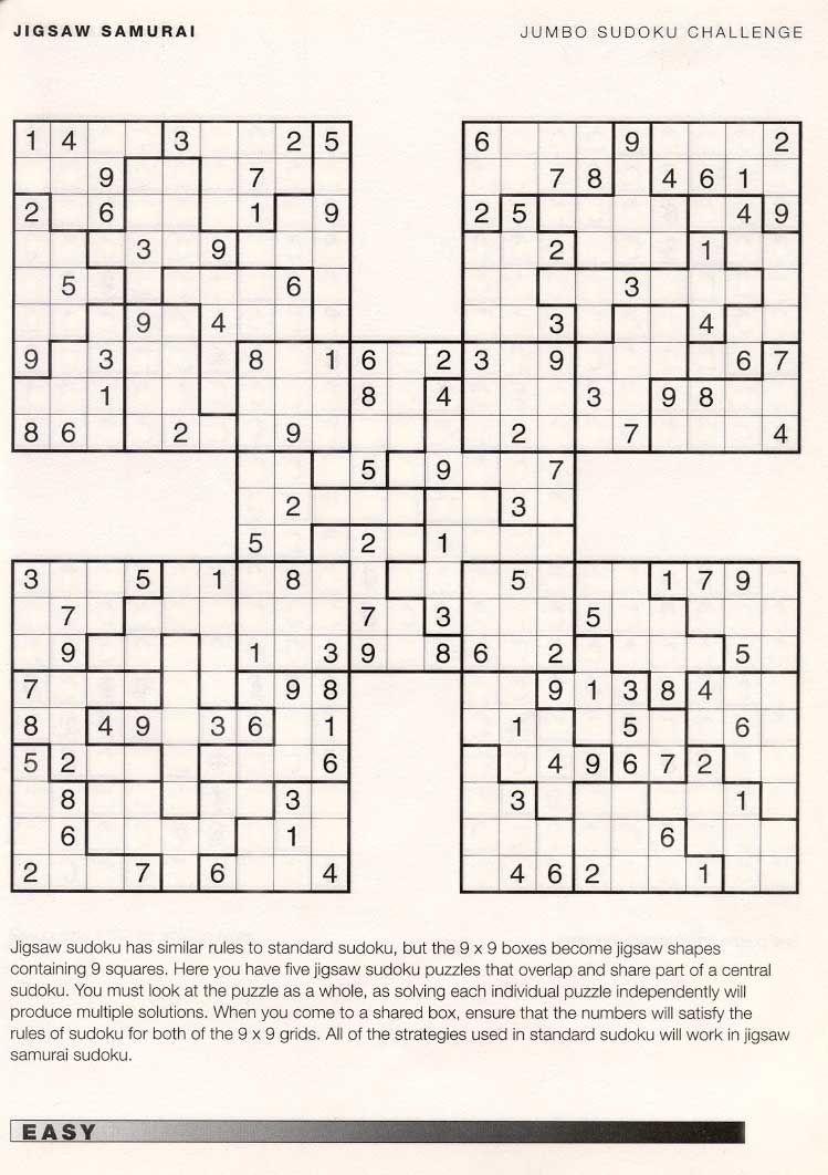 On Sudoku Downloads Hard Samurai Sudoku Download 100 Printable Hard - Free Printable Samurai Sudoku