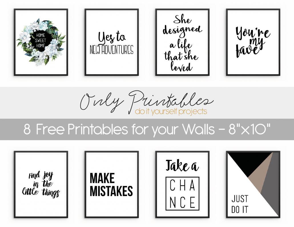 Only Printables | Wall Art - Free Printable Wall Art