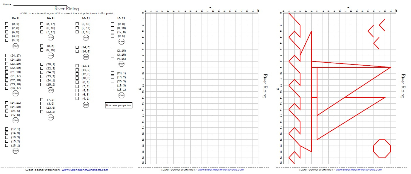 Ordered Pairs And Coordinate Plane Worksheets - Free Printable Coordinate Plane Pictures