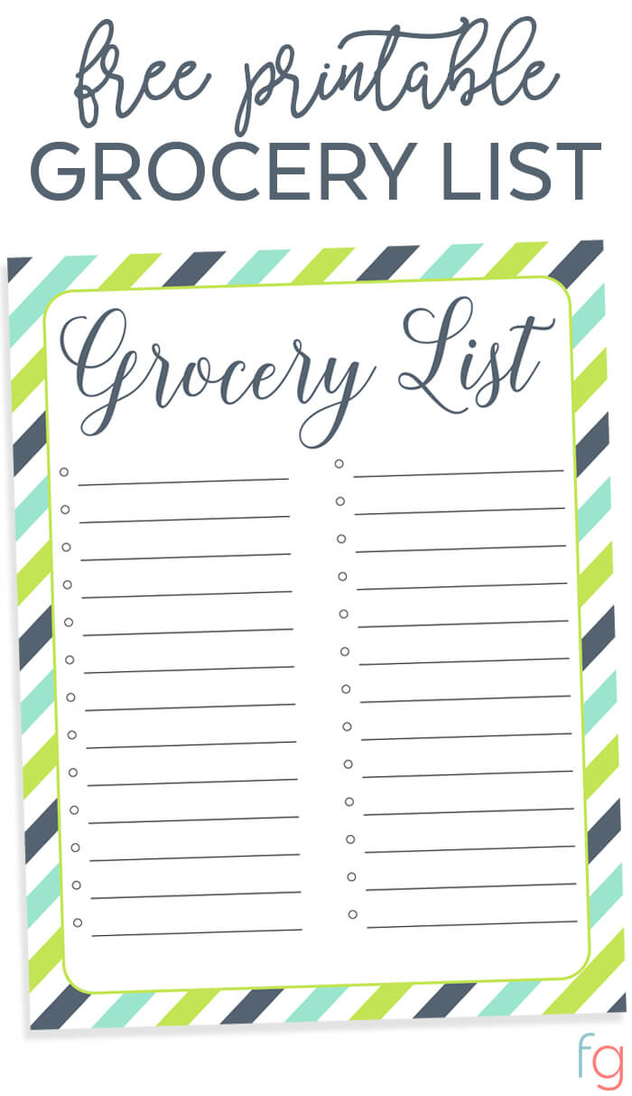 Organizing Grocery List - Free Printable - Free Printable Shopping List