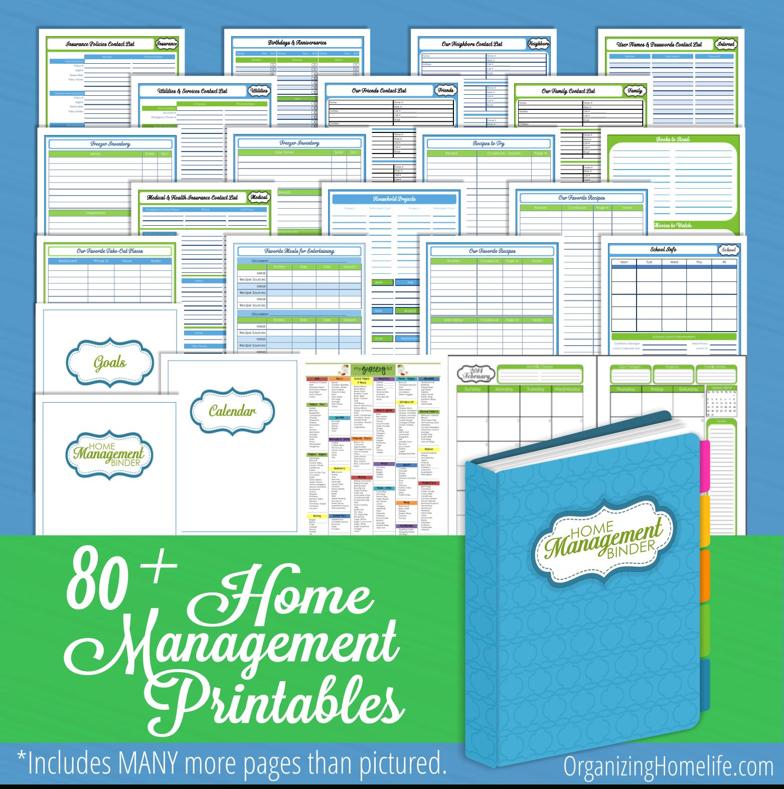 Organizing Homelife Home Management Binder Printables - Clean Mama - Free Printable Household Binder