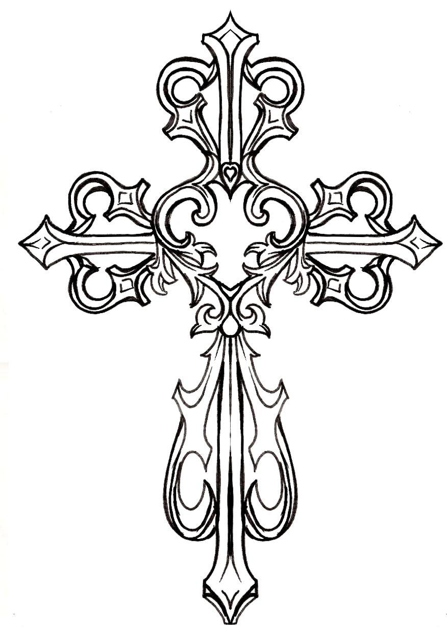 Ornate Cross Clipart #1 | Graphics & Printables | Pinterest | Tattoo - Free Printable Cross Tattoo Designs