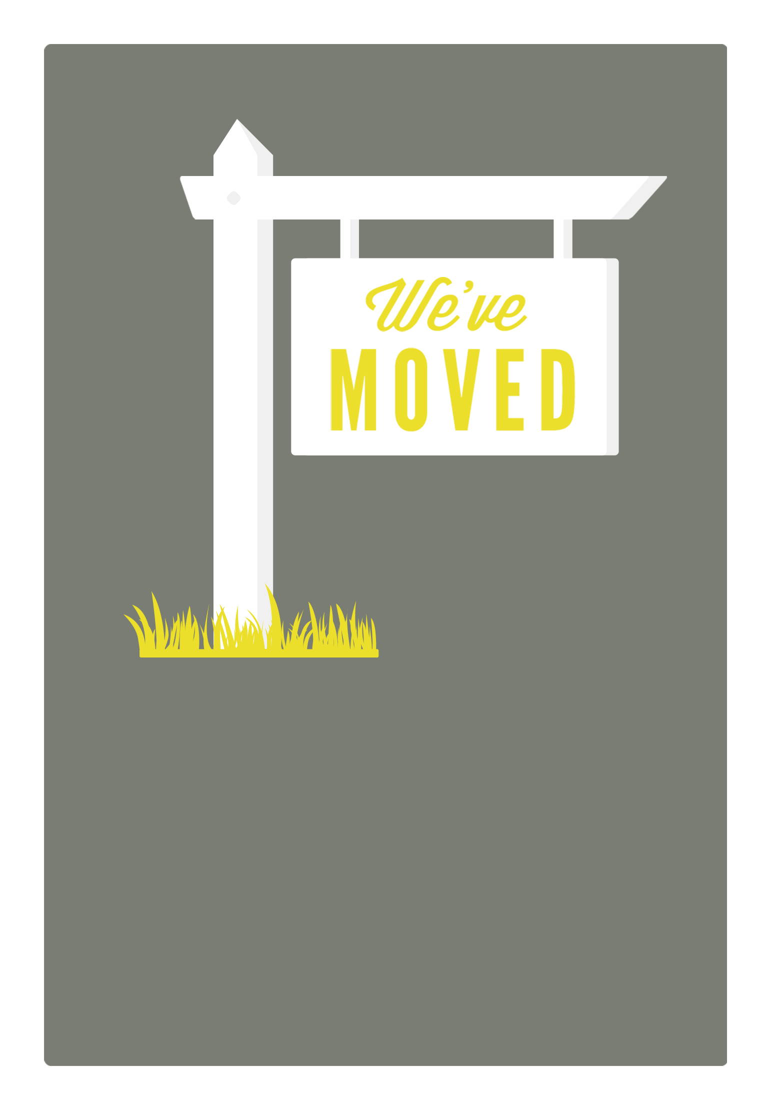 Our New Address - Free Printable Moving Announcement Template - We Are Moving Cards Free Printable