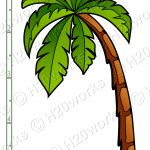 Palm Tree Printable Clipart   Free Printable Palm Tree Template