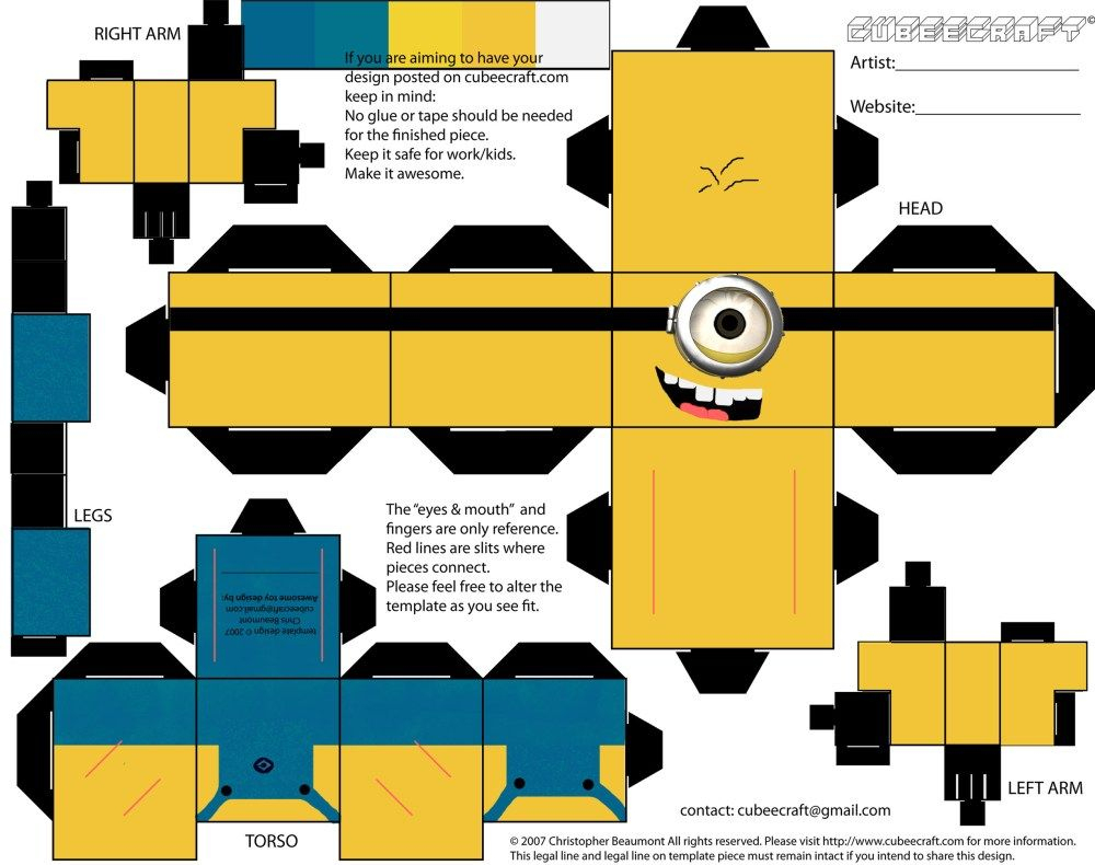 Paper Craft | Kids Crafts | Pinterest | Minion Craft, Minion Gifts - Printable Paper Crafts Free
