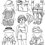 Paper Dolls And Paper Doll Dresses – Printable From Kid Fun –   Printable Paper Dolls To Color Free