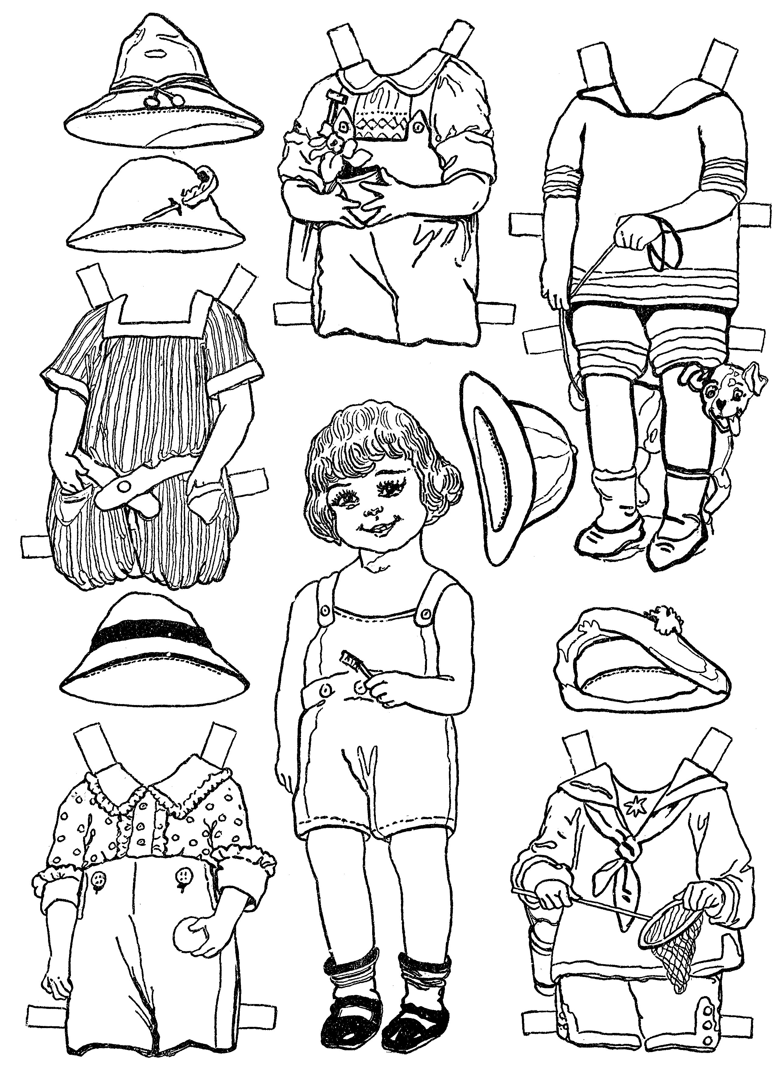 Paper Dolls And Paper Doll Dresses – Printable From Kid Fun – - Printable Paper Dolls To Color Free