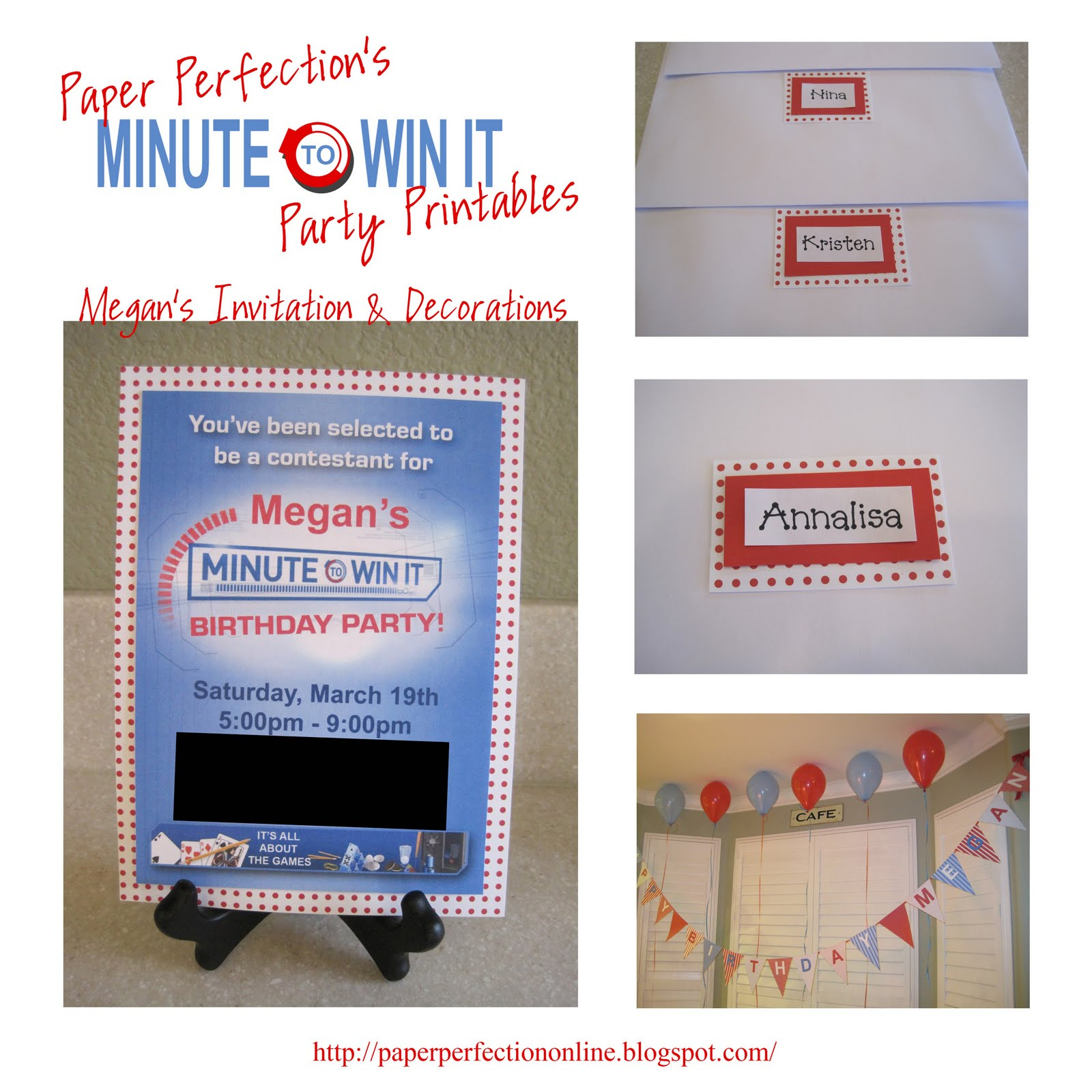 Paper Perfection: Minute To Win It Party Decorations, Favors And - Free Printable Minute To Win It Invitations