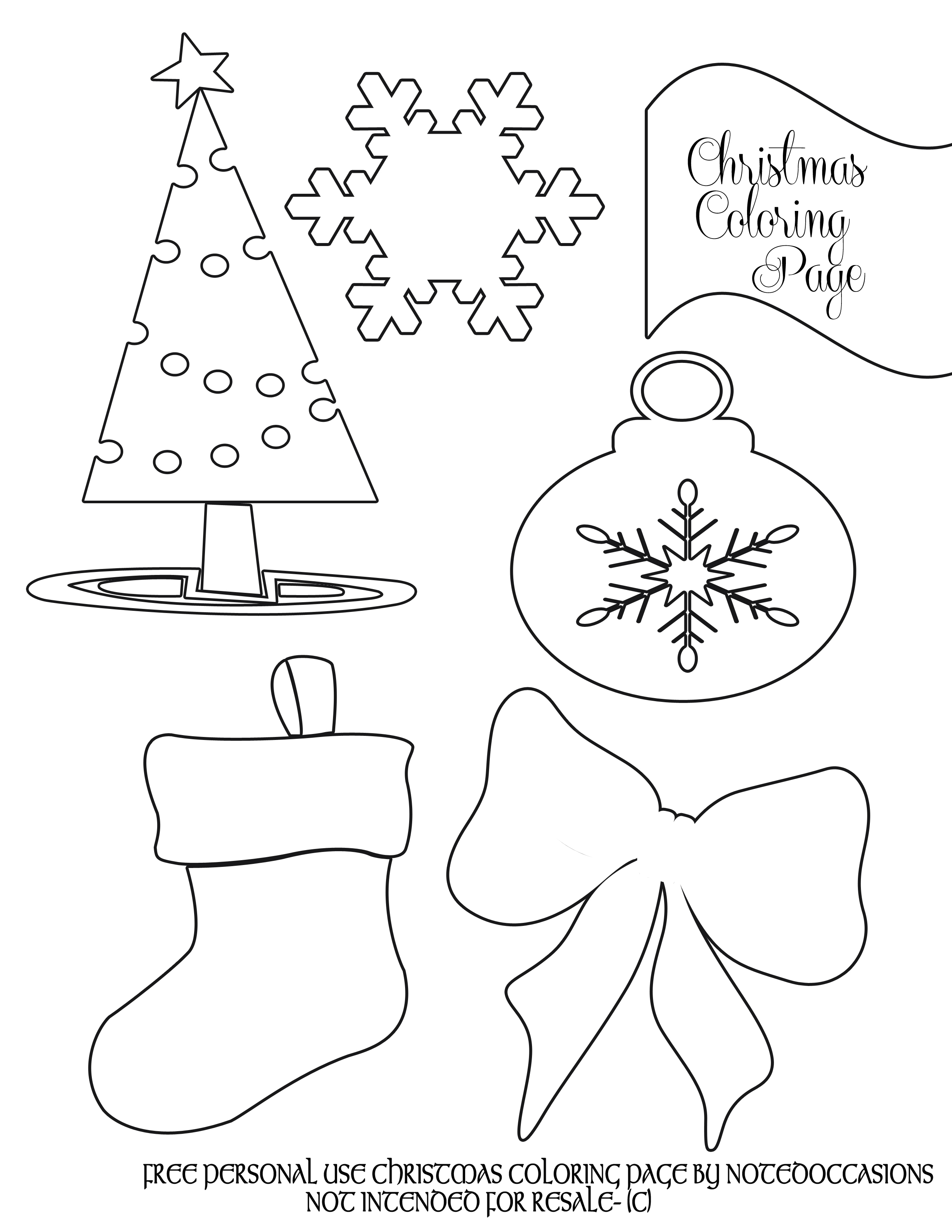 Party Simplicity Free Christmas Coloring Pages To Print - Party - Free Printable Christmas Coloring Pages For Kids