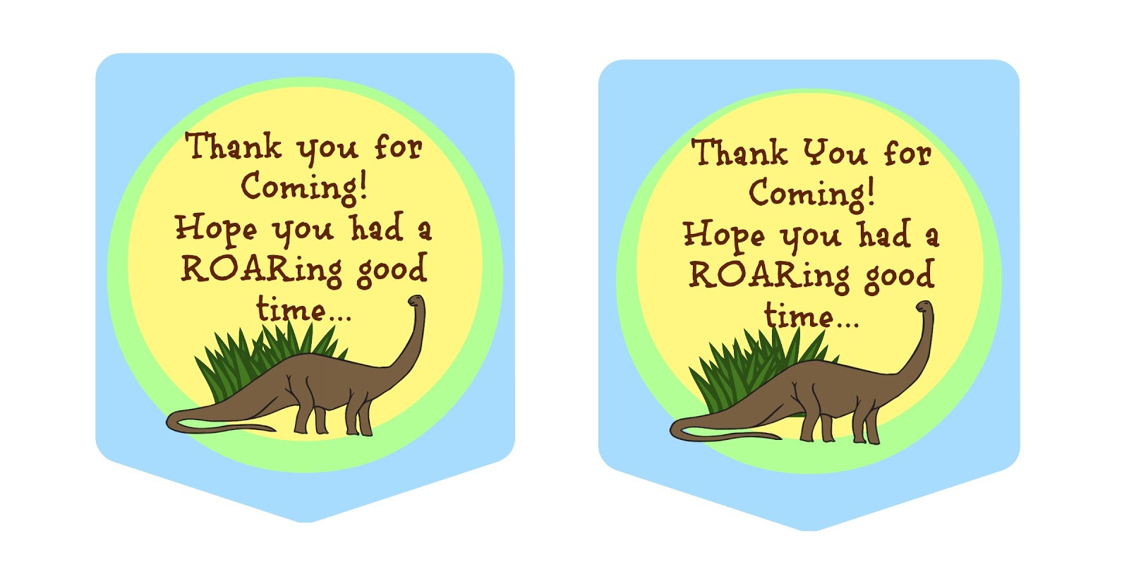 Party With Dinosaurs - Dinosaur Themed Birthday Party - Free Printable Dinosaur Labels