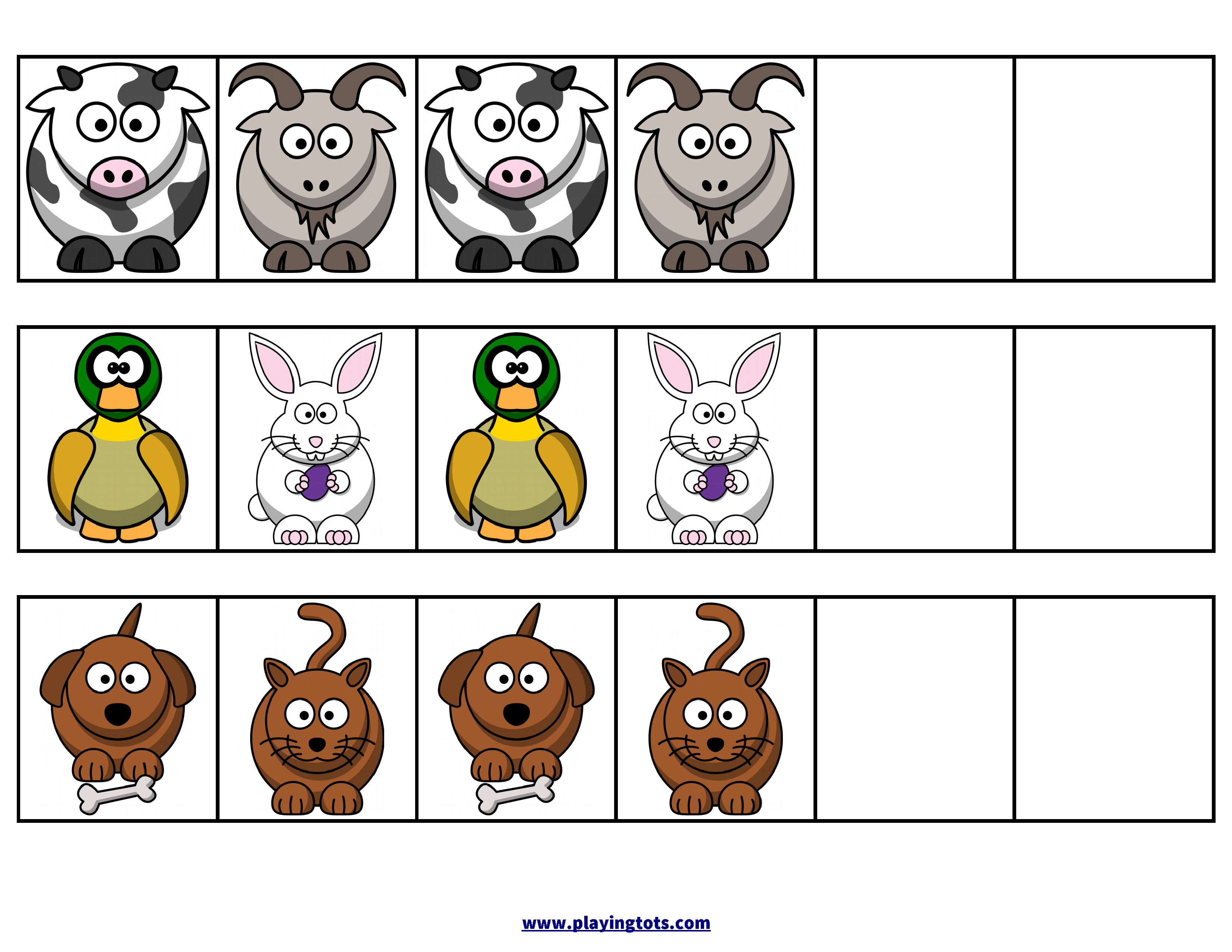 Pattern,animals,zoo,activity,free,printable,file,folder,toddler - Free Printable File Folders For Preschoolers