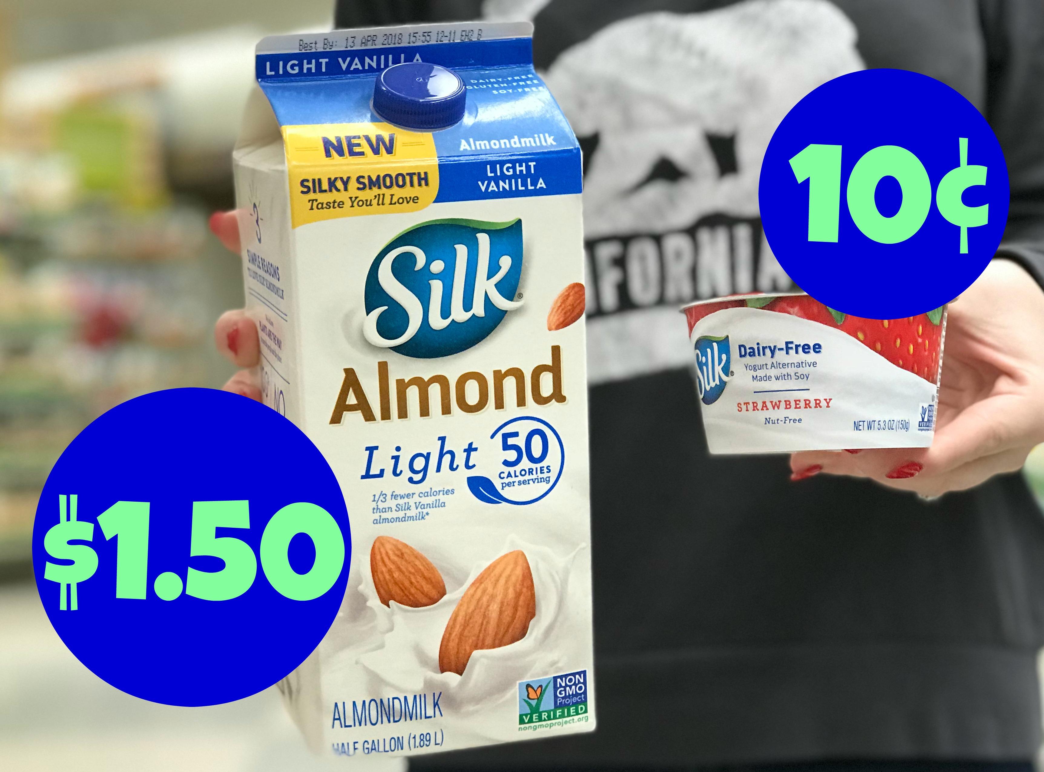 Pay $0.10 For Silk Yogurt And $1.50 For Silk Almondmilk Or Soymilk - Free Printable Silk Soy Milk Coupons