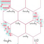 Pb And J Studio: Free Printable Planner Inserts Candy Hexagon In A5   Free Printable Agenda 2017