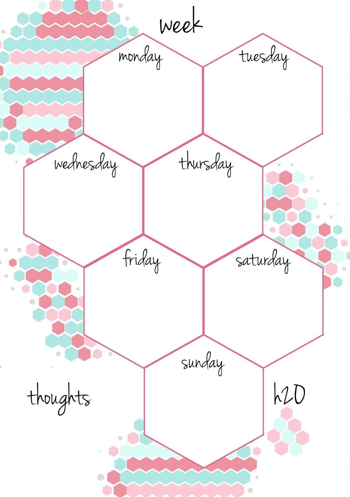 Pb And J Studio: Free Printable Planner Inserts Candy Hexagon In A5 - Free Printable Agenda 2017