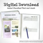 Pdf Printable Wedding Planner – Free Wedding Template   Free Printable Wedding Planner Book Pdf