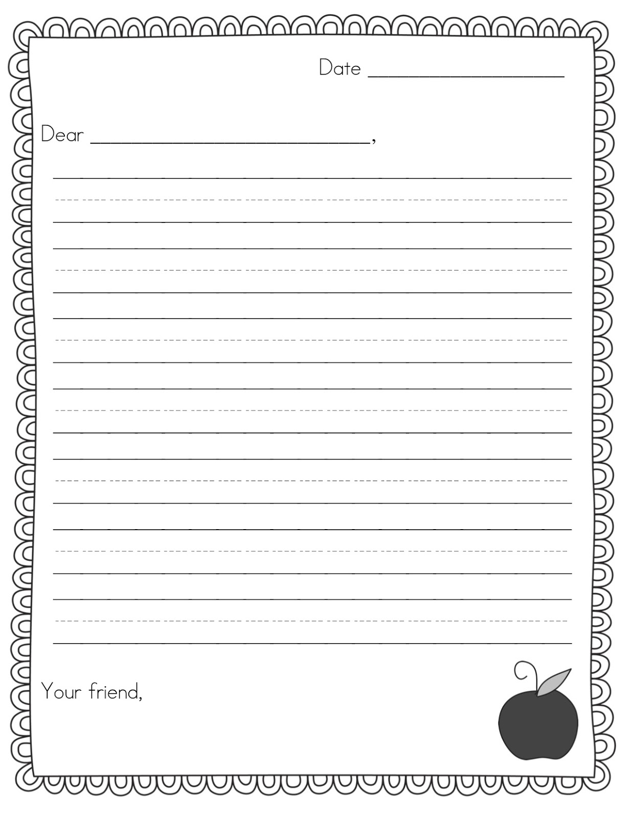 Pen Pal News + Friendly Letter Freebie - Teacher Idea Factory - Free Printable Letter Writing Templates