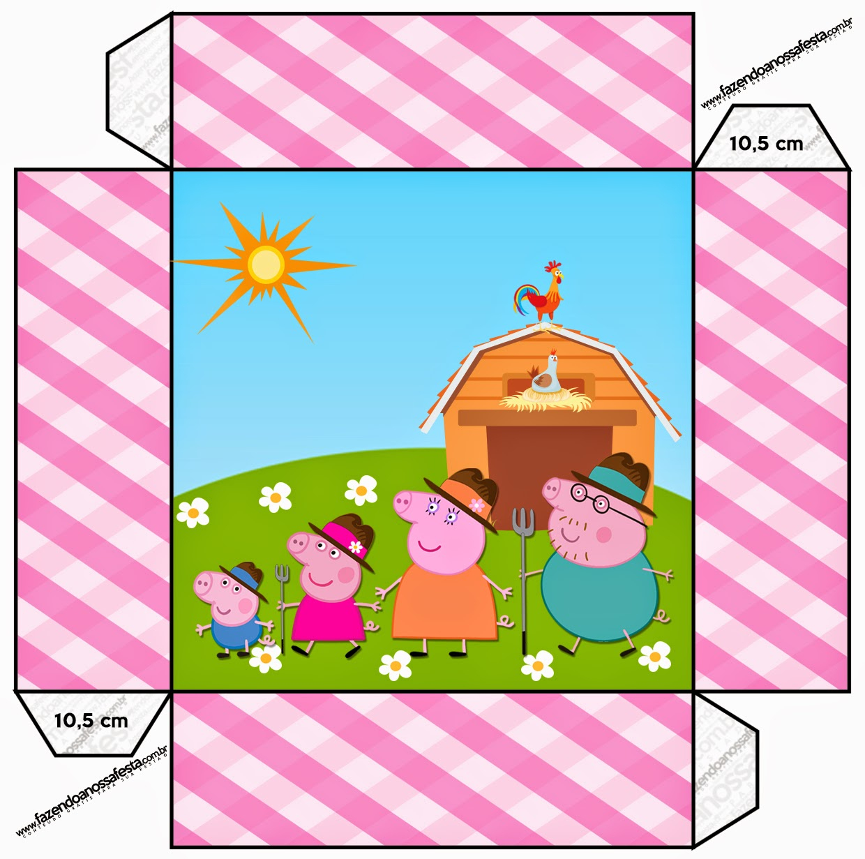 Peppa Pig At The Farm Free Printable Boxes. | Oh My Fiesta! In English - Peppa Pig Character Free Printable Images