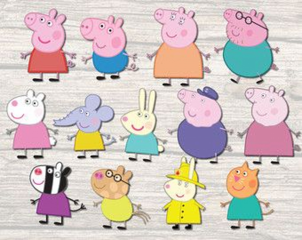 Peppa Pig Character Free Printable Images - Google Search | Birthday - Peppa Pig Character Free Printable Images