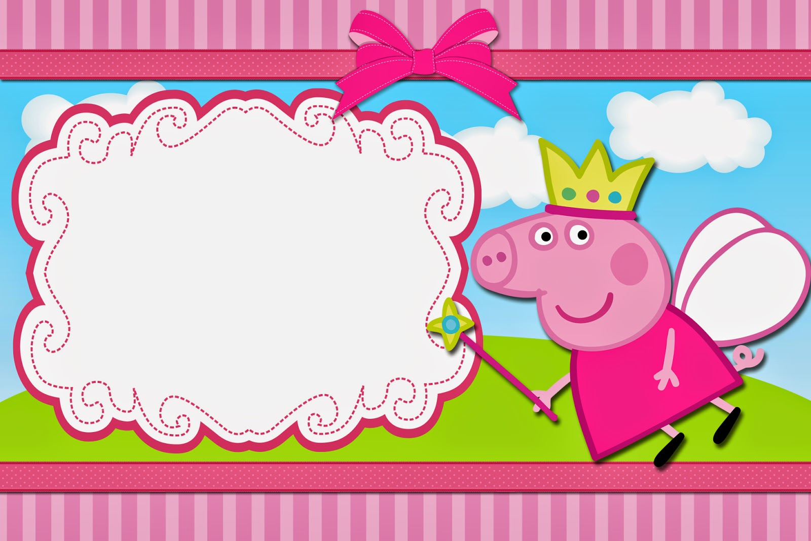Peppa Pig Fairy: Free Printable Invitations. | Oh My Fiesta! In English - Peppa Pig Birthday Banner Printable Free