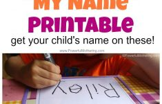 Perfect For Preschool Name Tracing Worksheets And Name Learning – Free Printable Name Worksheets For Kindergarten