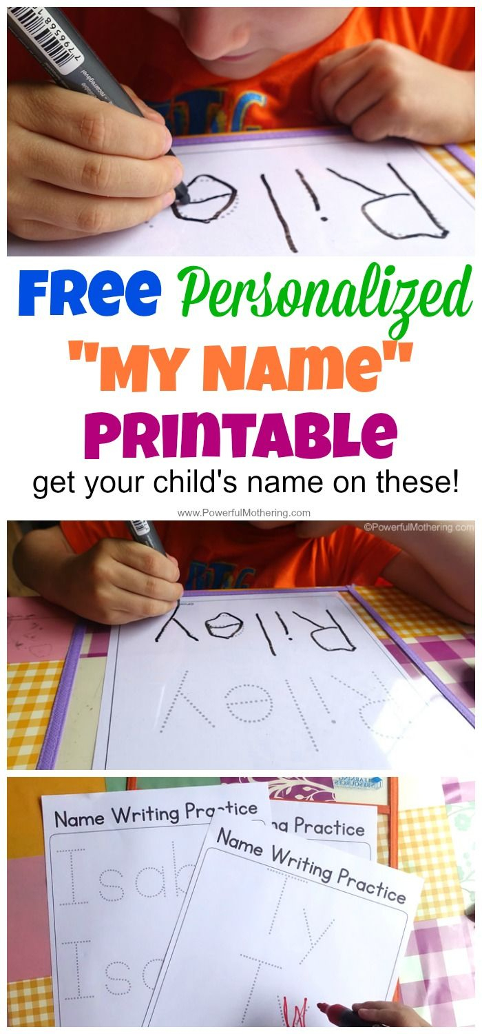 Perfect For Preschool Name Tracing Worksheets And Name Learning - Free Printable Name Worksheets For Kindergarten