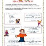 Personality Test I. Worksheet   Free Esl Printable Worksheets Made   Free Printable Personality Test