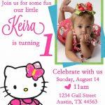Personalized Hello Kitty Birthday Invitations   | Free Printable   Free Printable Personalized Birthday Invitation Cards