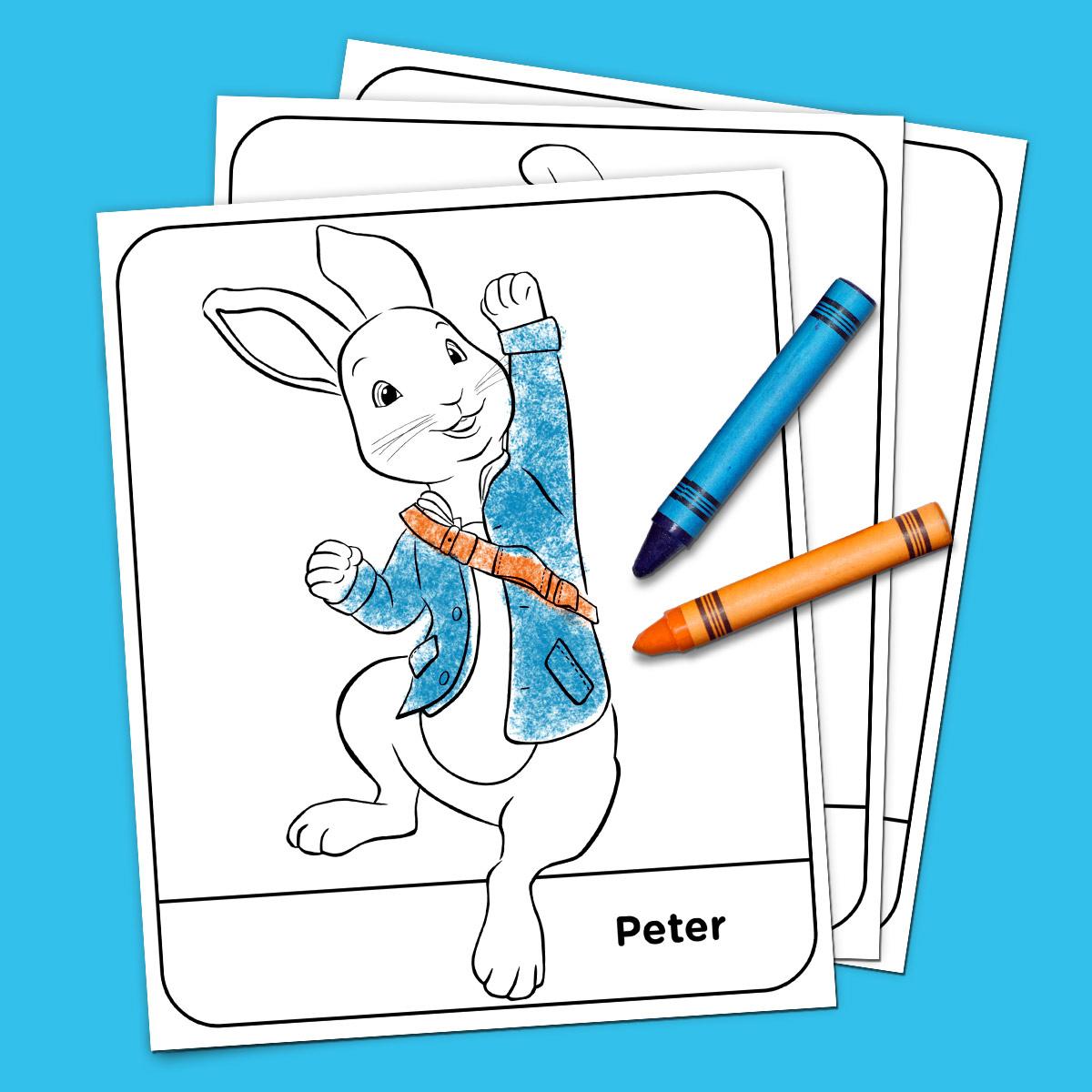 Peter Rabbit Coloring Pack | Nickelodeon Parents - Free Printable Peter Rabbit Coloring Pages
