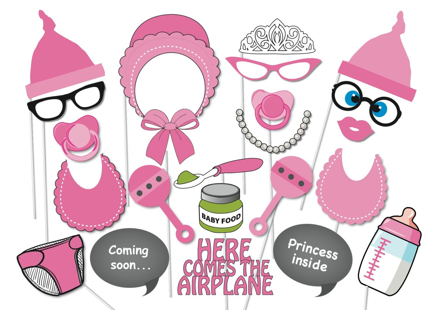 Photo Booth Props Baby Shower Free Printable - Baby Shower Ideas - Free Printable Baby Shower Photo Booth Props