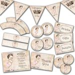 Photo : Handmade Princess Baby Shower Invitations Image   Free Printable Princess Baby Shower Invitations