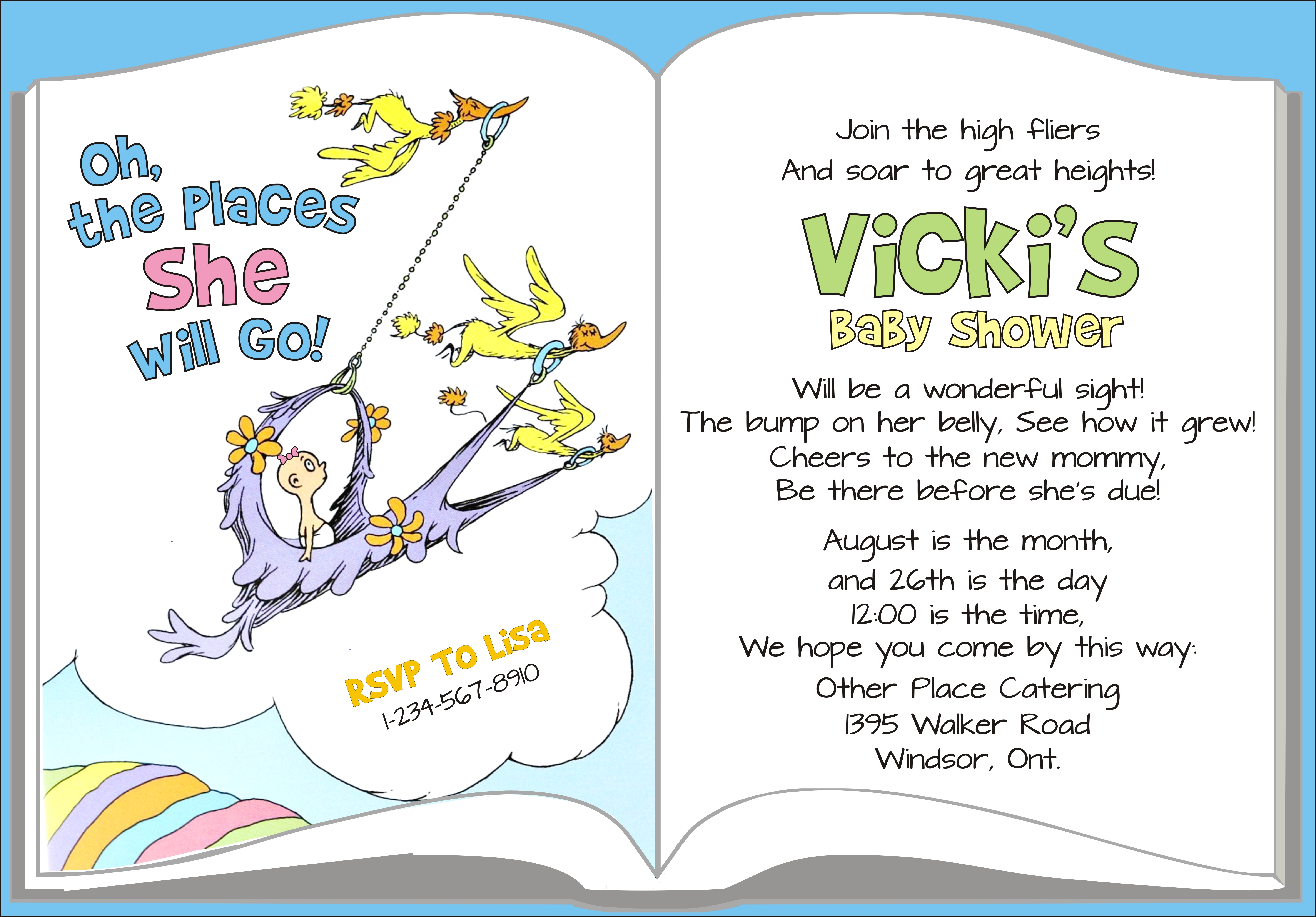 Photo : How To Make Dr Seuss Image - Free Printable Book Themed Baby Shower Invitations