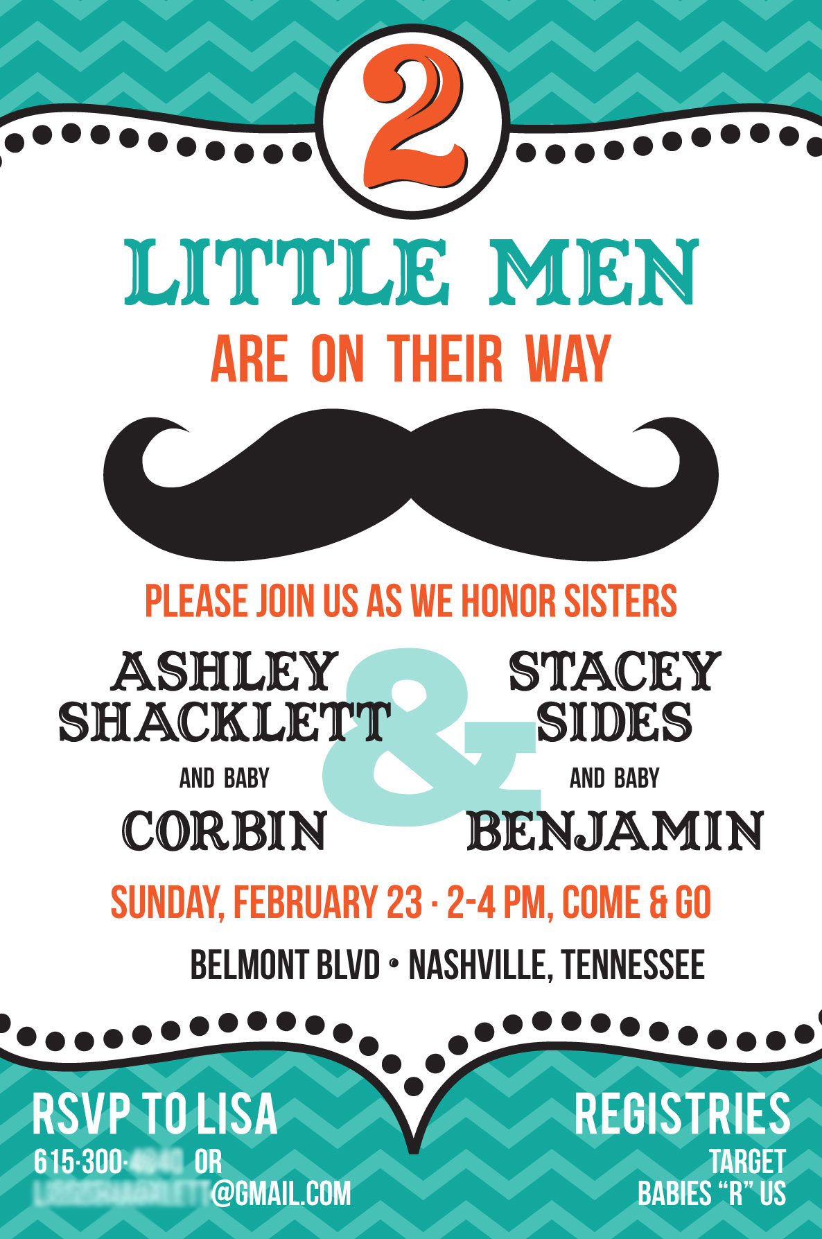 Photo : Mustache And Bow Baby Shower Image - Free Printable Mustache Invitations