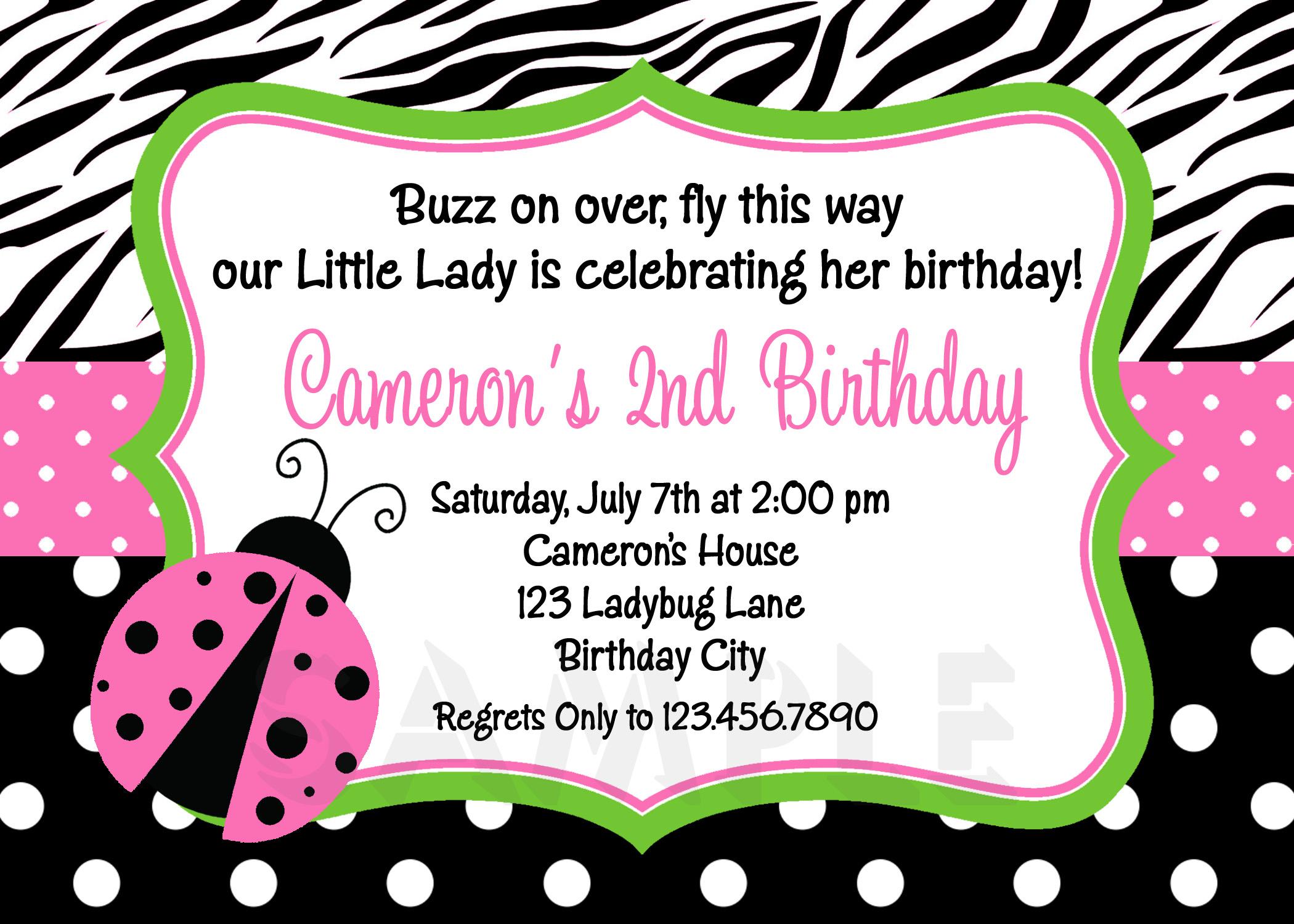 Photo : Print At Home Baby Image - Free Printable Ladybug Baby Shower Invitations Templates